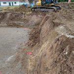 Erbele vergrößert unsere Baugrube