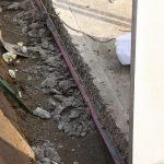 Anrauen der Bodenplatte