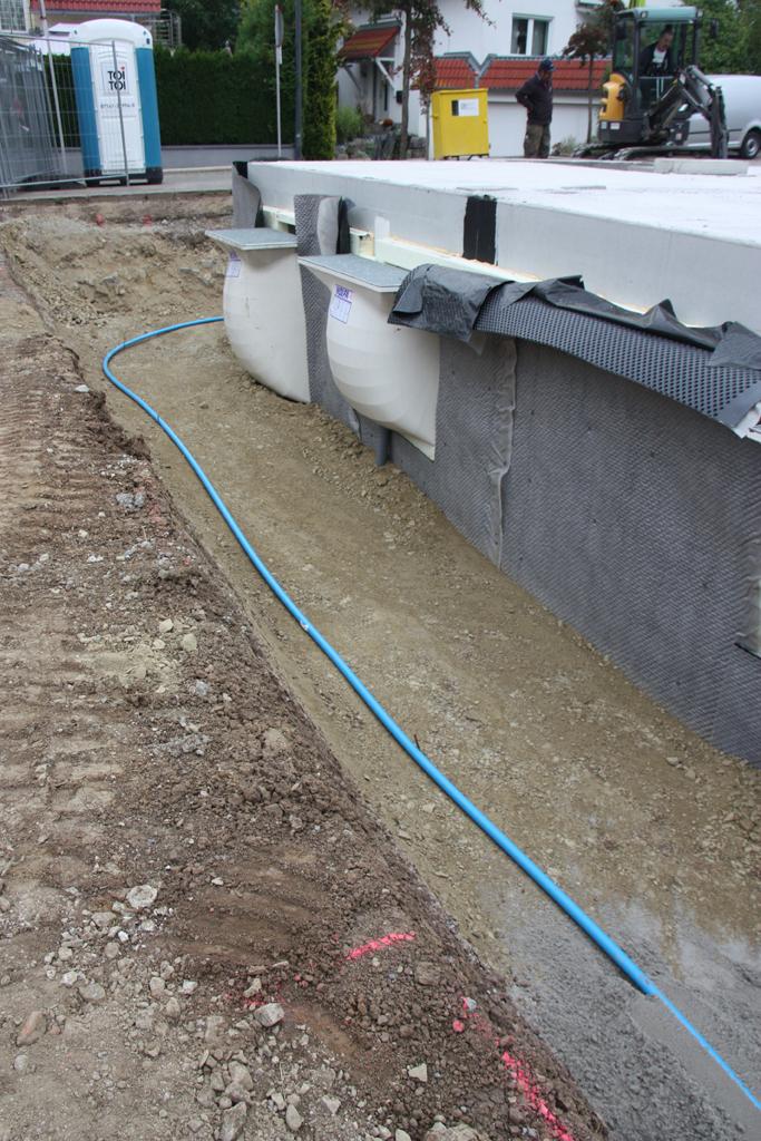 gräben mit elektroleitungen verfüllen