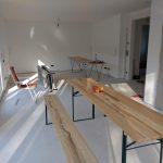 Gestrichenes Wohnzimmer