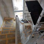 Leitergerüst für die Galerie