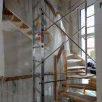 Leitergerüst auf der Treppe