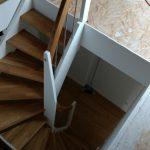 Fertige Treppe von oben